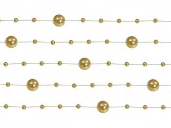 Girlanda perlová,  zlatá