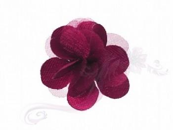Svatební vývazky květ bordó