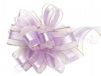 Stahovací stuha  lila, šířka 3,75cm