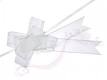 Stahovací stuha bílá, 3,75x68cm