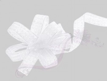 Stahovací stuha bílá 0,9cm