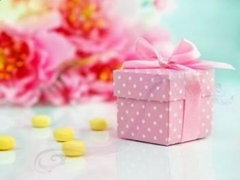 Krabička růžová  s víčkem a stužkou