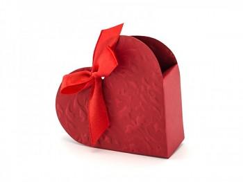 Krabička  srdíčko červené