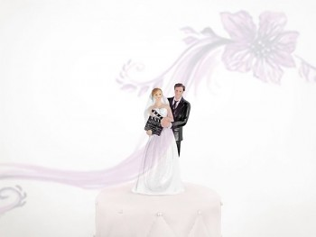 Figurka novomanželé klapka