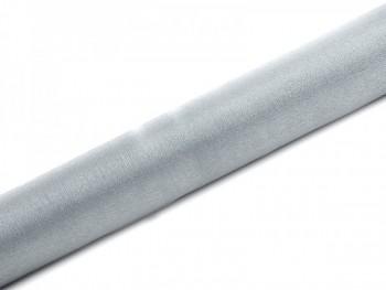 Organza sněžná stříbrná, šířka 36 cm, návin 9 m