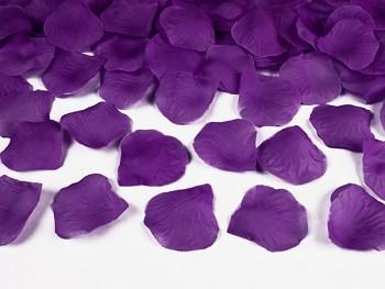 Plátky růží v tmavší švestkové barvě 100 kusů