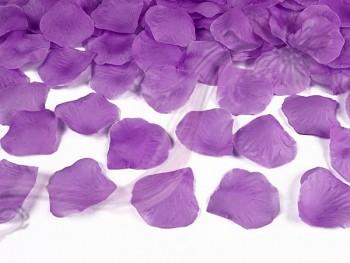 Plátky růží 100 kusů ve světlejší švestkové barvě