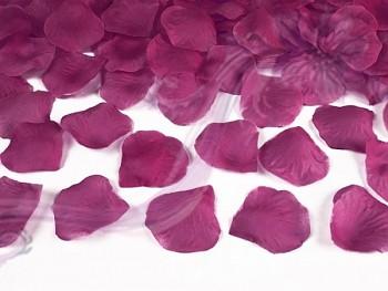 Plátky růží 100 kusů,tmavší fushia