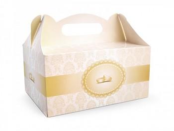 Ozdobná krabička na výslužku GOLDIE