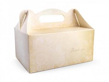 """Ozdobná krabička na výslužku """"Thank you"""""""