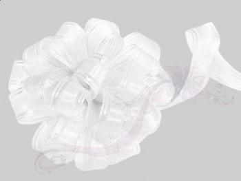 Stahovací stuha  bílá, šířka 1,5cm