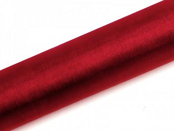 Organza hladká červená, 16cm/9m