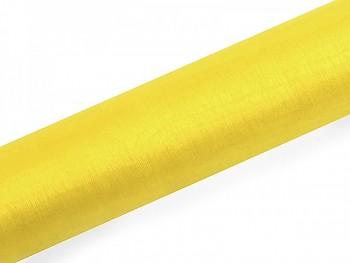 Organza hladká žlutá, 16cm/9m