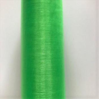 Organza hladká zelená, 16cm/9m