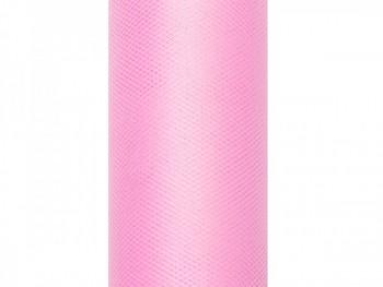 Tyl v roli světle růžový 50 cm x 9 m - 731191607