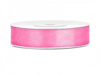 Saténová stuha růžová, 12mm/25m