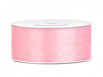 Saténová stuha světlá růžová, 25mm/25m
