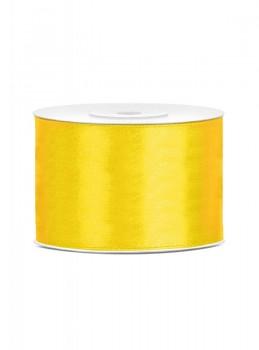 Saténová stuha žlutá 50mm/25m