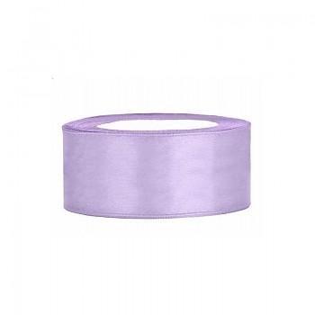 Saténová stuha  světlá lila, 25mm/25m