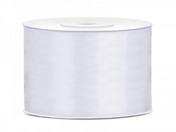 Saténová stuha bílá 50mm/25m