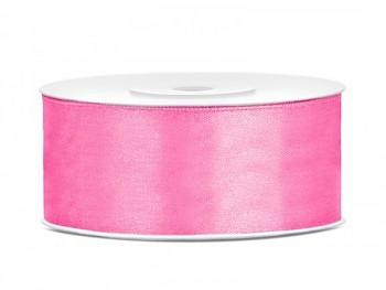 Saténová stuha růžová, 25mm/25m