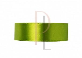 Saténová stuha zelená, 25mm/25m