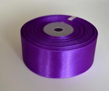 Saténová stuha, fialová 50mm/25m
