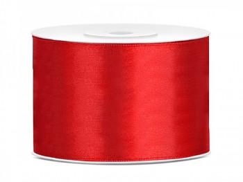 Saténová stuha  červená, 50mm/25m