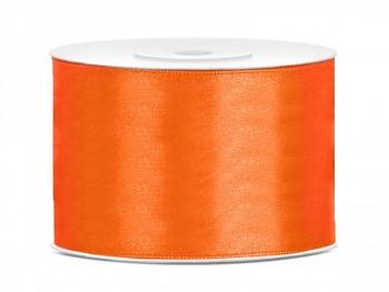 Saténová stuha  oranžová, 50mm/25m