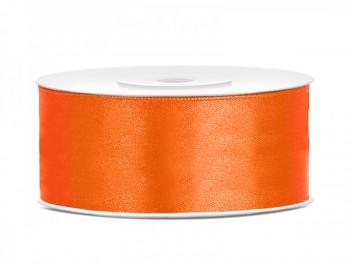 Saténová stuha  oranžová, 25mm/25m