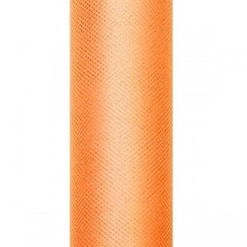 Tyl v roli, oranžová, šířka 15 cm, návin 9 m