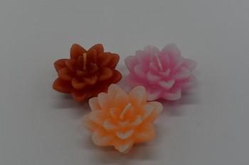 Plovoucí svíčka květ - pomerančový