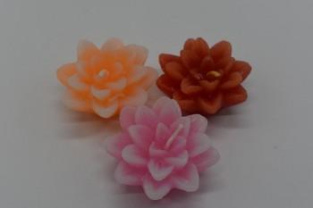 Plovoucí svíčka květ - růžový