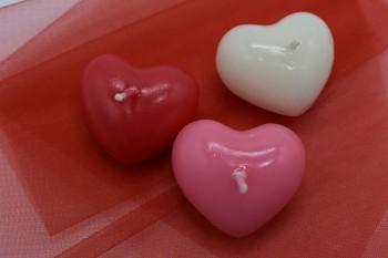 Plovoucí svíčka srdce - růžové
