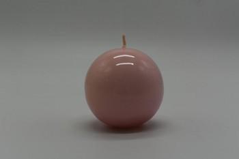 Svíčka koule 80mm, lakovaná,  růžová
