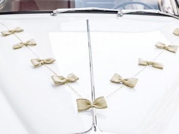 Dekorace na auto sada - jutovina