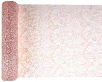 Šerpa stolová krajková Boho Chic růžová 3mx30cm 731251794
