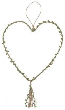 Přírodní závěsné srdce 30 x 77 cm 731251801