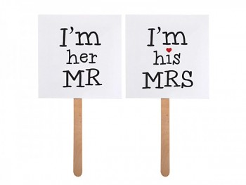 Kartičky  I´m his MRS +I´m her MR 731188979