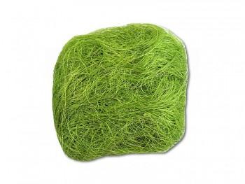 Barevné sisalové vlákno sv. zelená 731200054