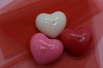 Plovoucí svíčka srdce - červené 731200068