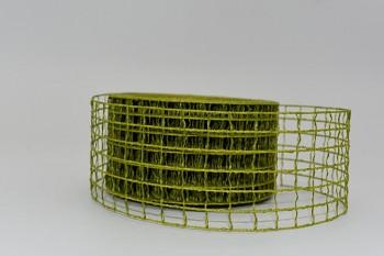 Stuha síťovaná olivová  5cm/10m 731200121