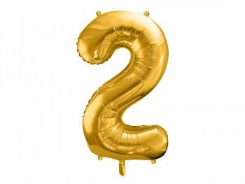 Foliový zlatý balónek číslice 2, 86 cm 731232816
