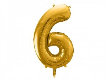 Foliový zlatý balónek číslice 6, 86 cm 731232820