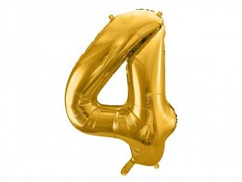 Foliový zlatý balónek číslice 4, 86 cm 731232818