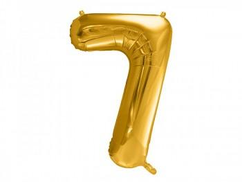 Foliový zlatý balónek číslice 7, 86 cm 731232821