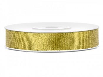Stuha brokátová zlatá, šířka 1 cm, návin 9 m 731232860