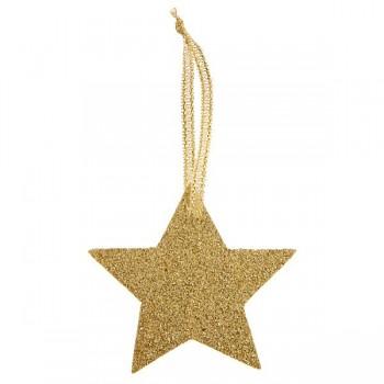 Jmenovky Zlatá hvězda glitrová, 6 ks 731235160