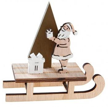 Santa na saních, stojánek na ubrousky 12 x 4 x 12 cm 731234839