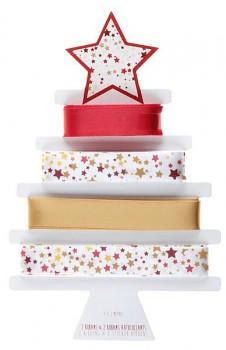 Vánoční červené dárkové stuhy 15 mm/ 4 x 2 m  731234847